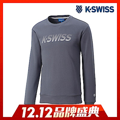K-Swiss Crew Neck Sweatshirt圓領長袖上衣-男-灰