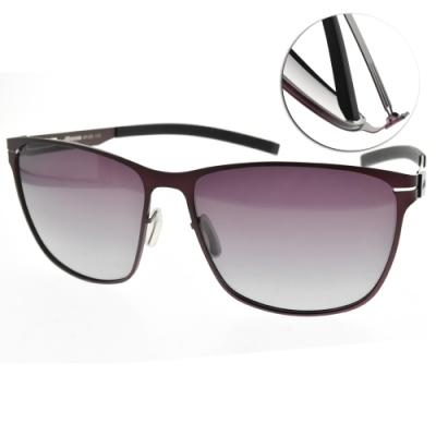MIZUNO美津濃太陽眼鏡 偏光方框款/霧紫-漸層紫 # MF259 C18