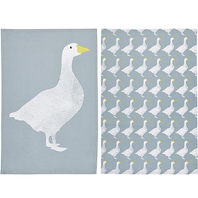 《KitchenCraft》純棉擦拭布2入(鵝)