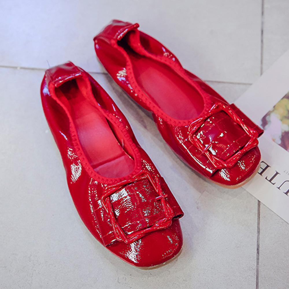 韓國KW美鞋館 獨賣款經典不敗休閒娃娃鞋-紅色
