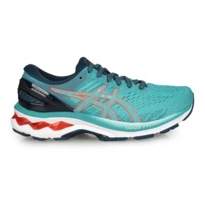 ASICS GEL-KAYANO 27女慢跑鞋-WIDE-寬楦 亞瑟膠 亞瑟士 1012A713-300 湖水綠橘
