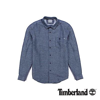 Timberland 男款海軍藍Mill River長袖襯衫