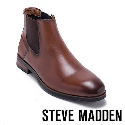 STEVE MADDEN-LESTON真皮紳士雀爾喜靴-咖啡色