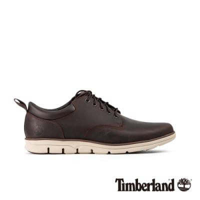Timberland 男款深棕色全粒面革牛津休閒鞋|A1TZE