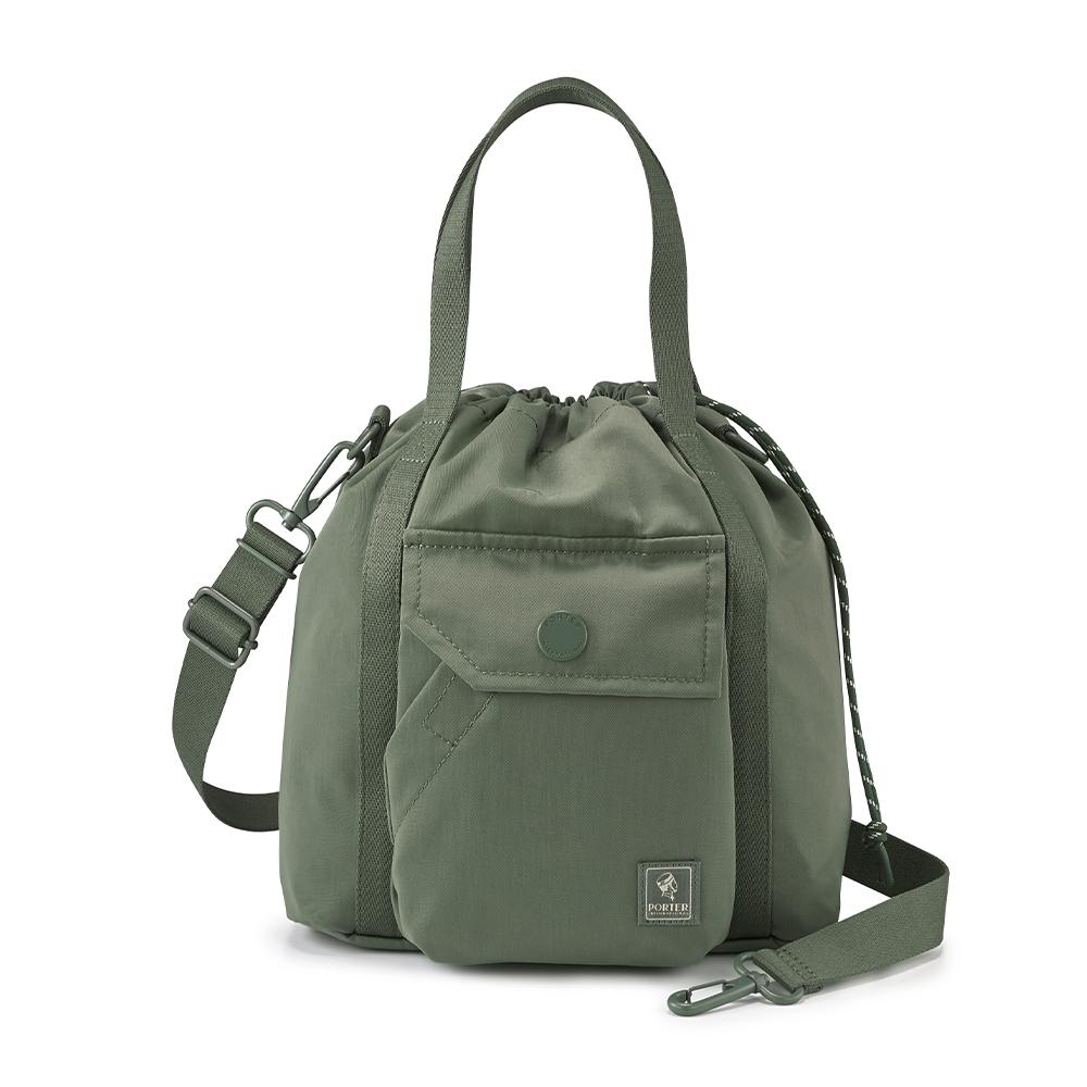 PORTER - 濃縮記憶LAPSE手提斜背兩用水桶包(S) - 橄欖綠