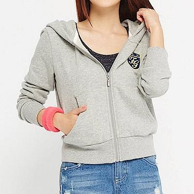 【TOP GIRL】棉質百搭短版連帽外套 - 灰色