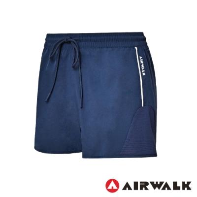 【AIRWALK】慢跑短褲-女-藍