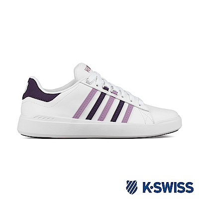 K-Swiss Pershing Court Light休閒運動鞋-女-白/紫