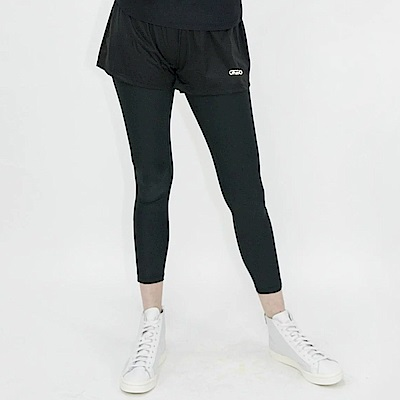 Gfun 女款吸排防潑假兩件短褲(G8PKPL1)