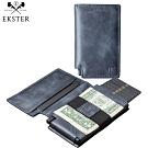 Ekster 荷蘭x紐約設計品牌 經典真皮RFID防盜皮夾 藍色