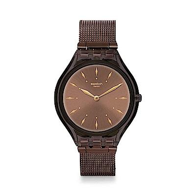Swatch Deep Wonder系列 SKINCHOC超薄巧克力手錶