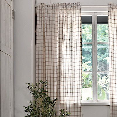 完美主義 清新大格子半腰式窗簾/簾子/韓國製-100x150cm