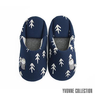 Yvonne Collection 貓頭鷹日式拖鞋-深藍L