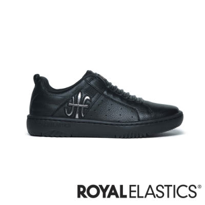 ROYAL ELASTICS ICON2.0 黑銀真皮潮流運動休閒鞋 (女) 96511-999