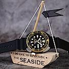 SEIKO 精工 PROSPEX 海洋200米潛水機械錶(SRPD46J1)-黑金鮑