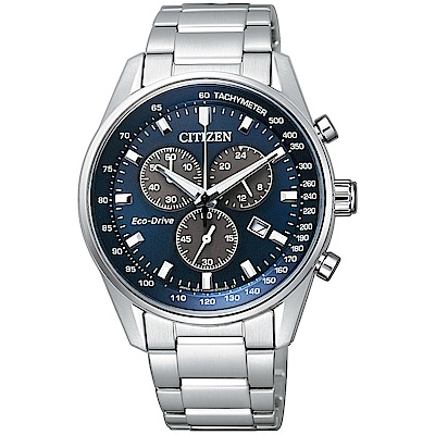 CITIZEN 星辰 光動能(AT2390-58L)三眼計時手錶