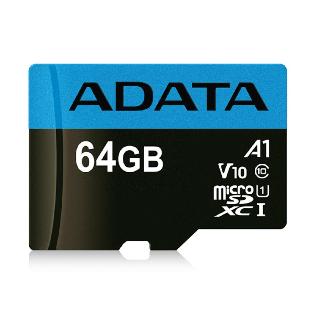 威剛 Premier microSDXC UHS-I (A1) 64G記憶卡(附轉卡)