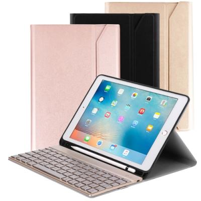 Powerway For iPad 9.7吋平板專用尊榮型三代筆槽式鋁合金藍牙鍵盤/皮套