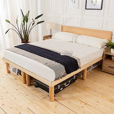 時尚屋 佐野5尺床片型高腳雙人床(不含床頭櫃-床墊)