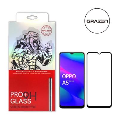 【格森GRAZEN】OPPO A5/A9 (2020) 滿版(黑)鋼化玻璃