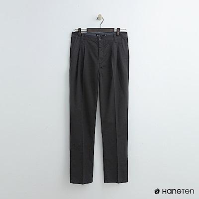 Hang Ten - 男裝 -純色打摺西裝褲-灰
