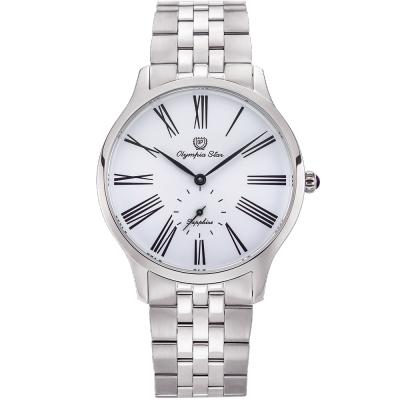 奧林比亞之星 Olympia Star 優雅弧線腕錶-白  58087MS