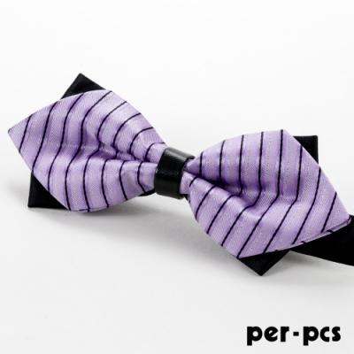 per-pcs 雙層黑配紫蝴蠂結領結領結_M-155