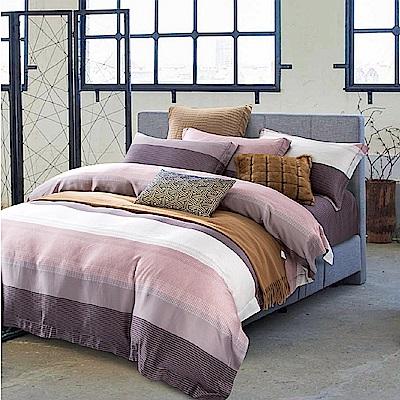 Saint Rose 時尚先生-咖 雙人100%純天絲兩用被套床包四件組