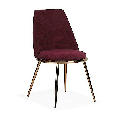 AS-亞當酒紅鐵藝布餐椅-49x58x81cm