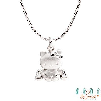 甜蜜約定 HelloKitty 天秤座Kitty純銀墜子 送項鍊
