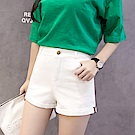 Lockers 木櫃 韓版學生拼接顯瘦A字短褲-2色