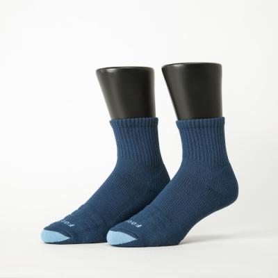 Footer除臭襪-螺旋氣墊輕壓力襪-六雙入(黑色*2+藍色*2+白色*2)