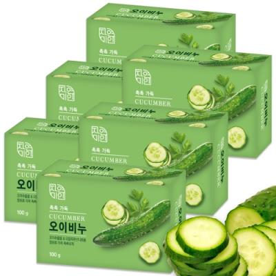 韓國 MKH無窮花 小黃瓜保濕美肌香皂 6入