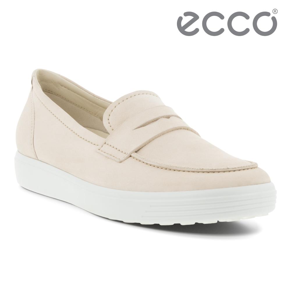 ECCO SOFT 7 W 套入式輕便休閒鞋 女鞋 石灰色
