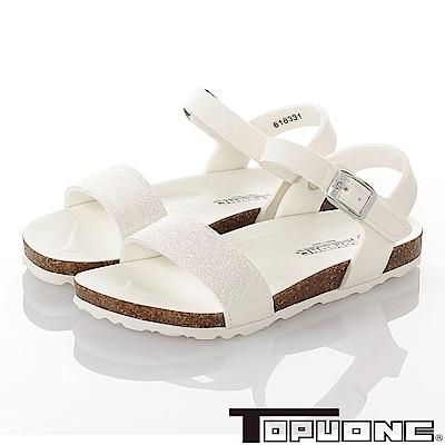 TOPU ONE 親子鞋-輕量減壓腳床型涼鞋童鞋-白