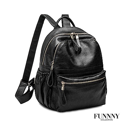 FUNNNY 羊皮觸感 實用雙層後背包系列 Nancy