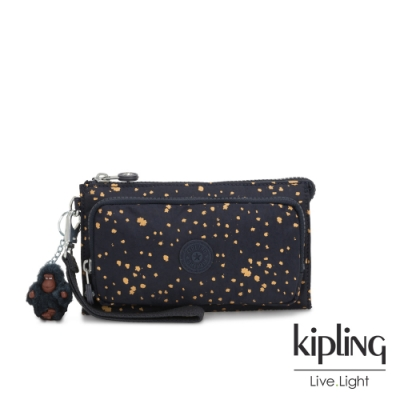 Kipling 燦爛潑墨星光多功能夾層手拿包-DREAMY