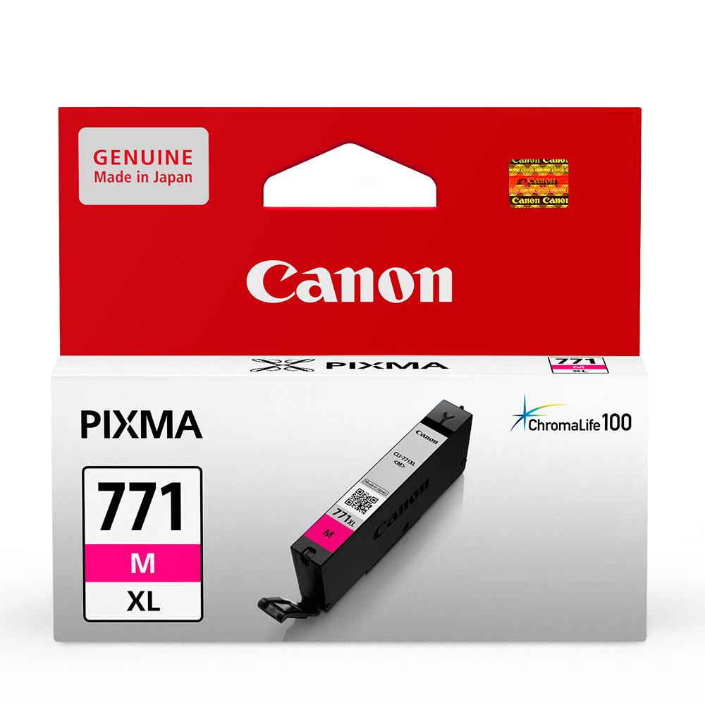 CANON CLI-771XL-M 原廠紅色高容量墨水匣