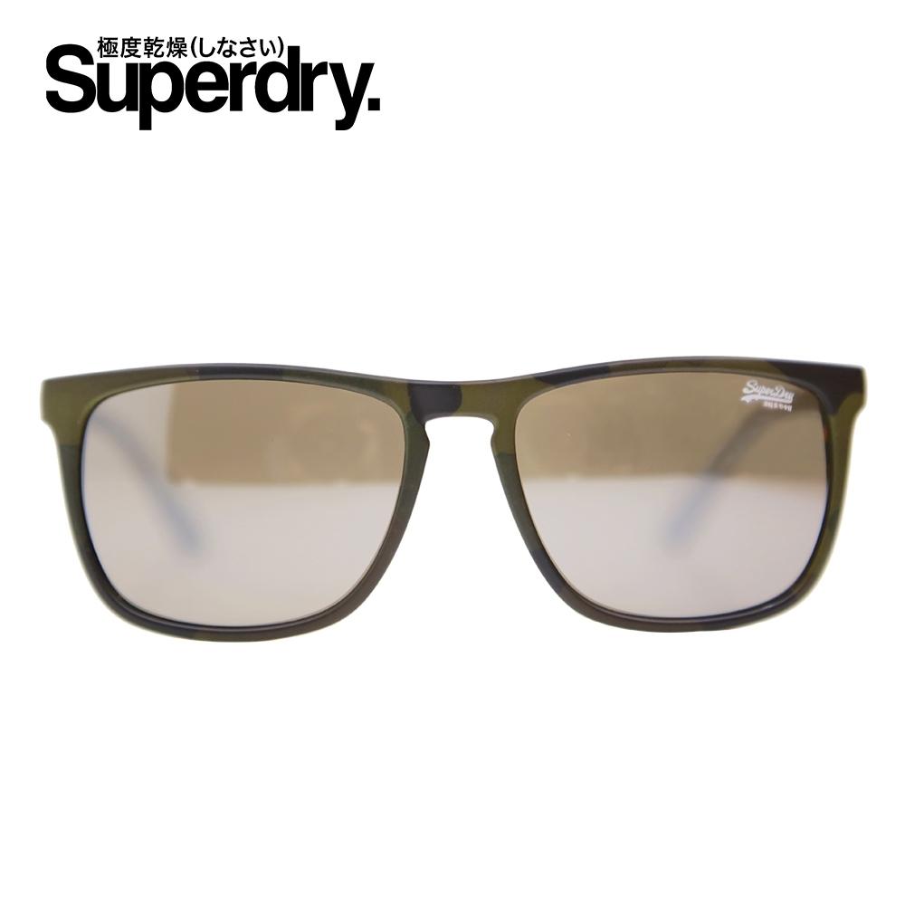 Superdry極度乾燥 墨鏡/太陽眼鏡 SHOCKWAVE系列 復古粗框雷朋款