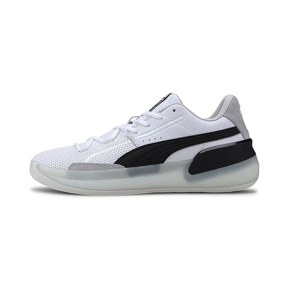 PUMA-Clyde Hardwood 男性復古籃球運動鞋-白色