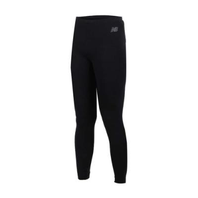 NEW BALANCE女緊身長褲-NB 路跑 慢跑 運動 健身 黑白