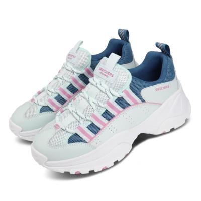 Skechers 休閒鞋 Kozmiks 1 老爹鞋 女鞋 厚底 增高 修飾 避震 緩衝 支撐 綠 粉 88888409AQUA