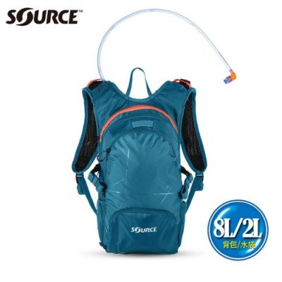 【以色列SOURCE】戶外健行水袋背包Fuse系列 (8L/水袋2L)