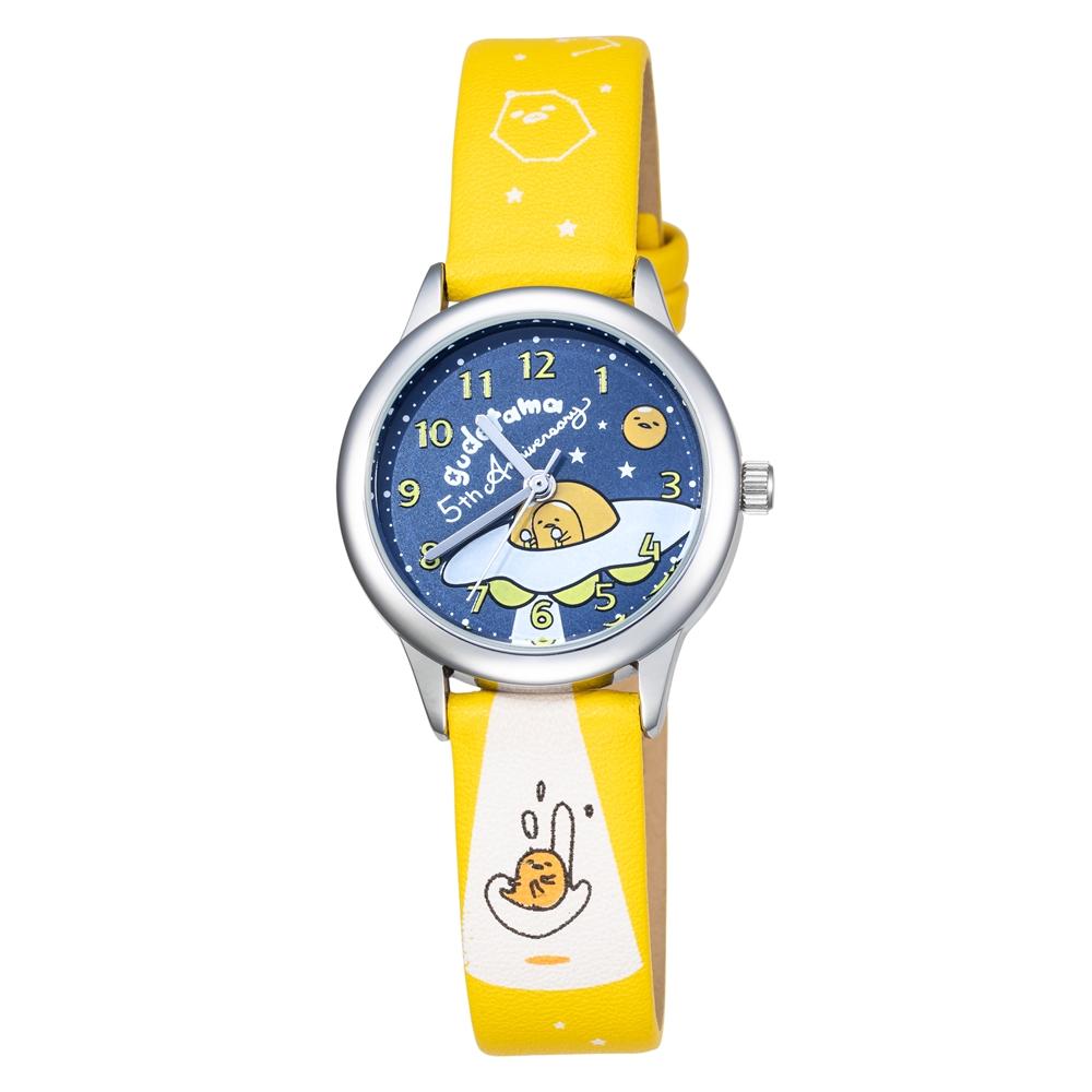 HELLO KITTY 蛋黃哥 五週年紀念手錶-黃  /30mm