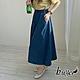 【白鵝buyer】簡約 休閒舒適棉質寬褲裙(深藍) product thumbnail 1