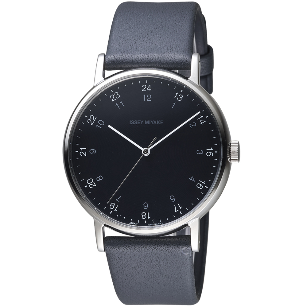 ISSEY MIYAKE三宅一生f系列雙時刻腕錶(NYAJ006Y)-黑