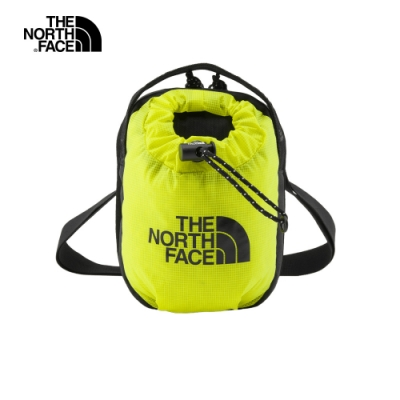 The North Face北面男女款黃綠色抽繩休閒單肩包|52RYC6T