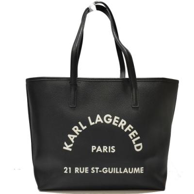 KARL LAGERFELD 卡爾 205W3084 RUE ST-GUILLAUME購物包(黑色)