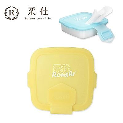 【Roaze 柔仕】專利矽膠抽取盒 + 乾濕兩用布巾(20片) - 小兵黃