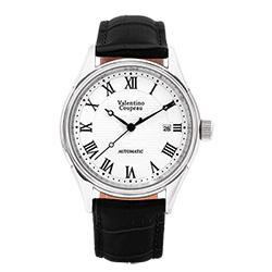 Valentino Coupeau 范倫鐵諾 古柏 經典羅馬機械錶(白殼/白面/黑皮)